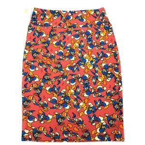 LulaRoe Disney Donald Duck Cassie Skirt Size Med